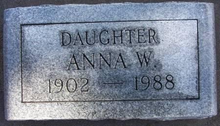 REELFS, ANNA W. - Plymouth County, Iowa   ANNA W. REELFS