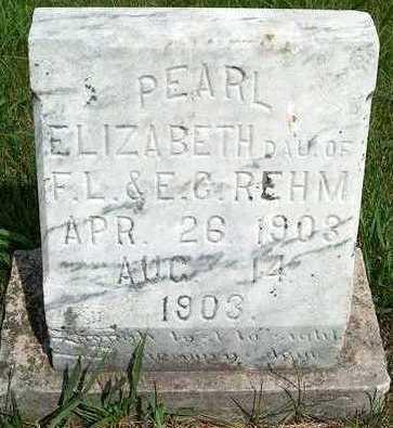 REHM, PEARL ELIZABETH - Plymouth County, Iowa | PEARL ELIZABETH REHM