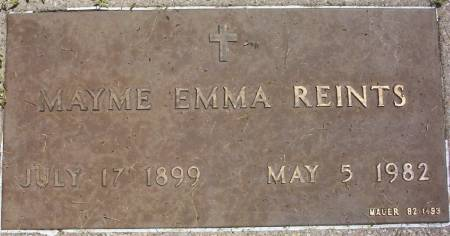 REINTS, MAYME EMMA - Plymouth County, Iowa   MAYME EMMA REINTS
