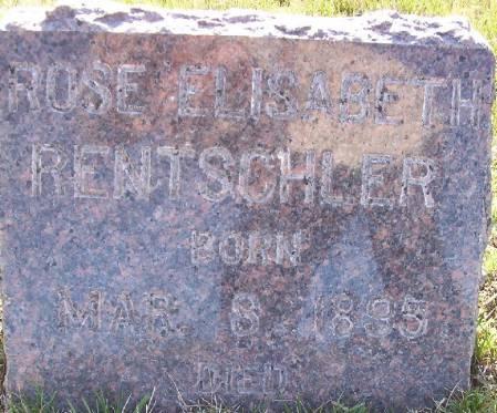 RENTSCHLER, ROSE ELISABETH - Plymouth County, Iowa | ROSE ELISABETH RENTSCHLER