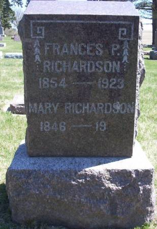 RICHARDSON, MARY - Plymouth County, Iowa | MARY RICHARDSON