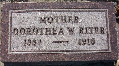 RITER, DOROTHEA WILHELMINA - Plymouth County, Iowa | DOROTHEA WILHELMINA RITER