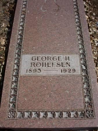 ROHLFSEN, GEORGE H. - Plymouth County, Iowa | GEORGE H. ROHLFSEN