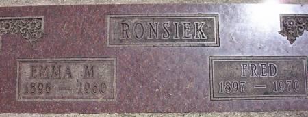 RONSIEK, EMMA M. - Plymouth County, Iowa | EMMA M. RONSIEK