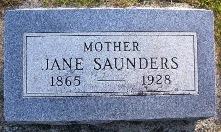 SAUNDERS, JANE - Plymouth County, Iowa   JANE SAUNDERS