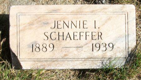 SCHAEFFER, JENNIE I. - Plymouth County, Iowa   JENNIE I. SCHAEFFER