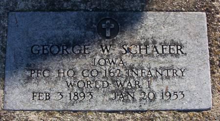 SCHAFER, GEORGE W. - Plymouth County, Iowa | GEORGE W. SCHAFER