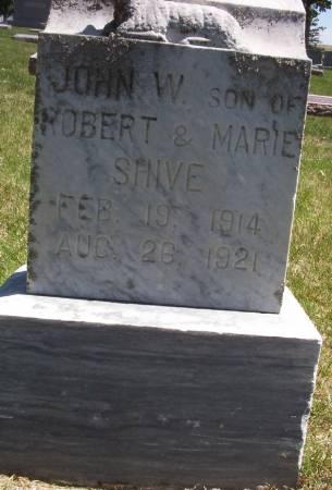 SHIVE, JOHN W. - Plymouth County, Iowa | JOHN W. SHIVE