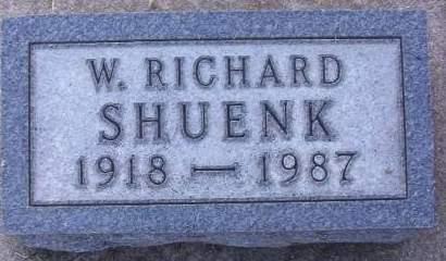 SHUENK, W. RICHARD - Plymouth County, Iowa   W. RICHARD SHUENK