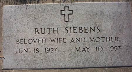 SIEBENS, RUTH - Plymouth County, Iowa | RUTH SIEBENS