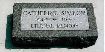 SCHNEIDER SIMEON, CATHERINE - Plymouth County, Iowa | CATHERINE SCHNEIDER SIMEON