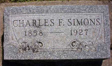 SIMONS, CHARLES F. - Plymouth County, Iowa   CHARLES F. SIMONS