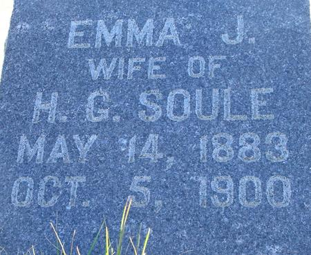 SOULE, EMMA J. - Plymouth County, Iowa | EMMA J. SOULE