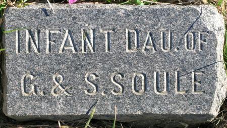 SOULE, INFANT DAU. - Plymouth County, Iowa | INFANT DAU. SOULE
