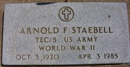 STAEBELL, ARNOLD F. - Plymouth County, Iowa | ARNOLD F. STAEBELL