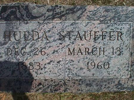 STAUFFER STAUFFER, HULDA - Plymouth County, Iowa | HULDA STAUFFER STAUFFER