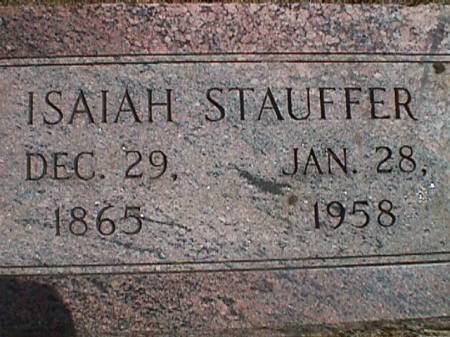 STAUFFER, ISAIAH - Plymouth County, Iowa | ISAIAH STAUFFER