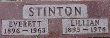 HINES STINTON, LILLIAN - Plymouth County, Iowa   LILLIAN HINES STINTON
