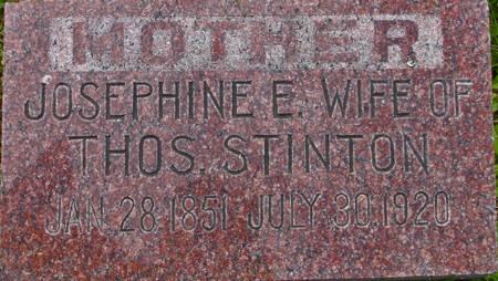 BROWN STINTON, JOSEPHINE E. - Plymouth County, Iowa | JOSEPHINE E. BROWN STINTON