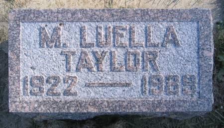 TAYLOR, MARY LUELLA - Plymouth County, Iowa | MARY LUELLA TAYLOR