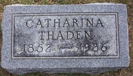 THADEN, CATHARINA - Plymouth County, Iowa   CATHARINA THADEN