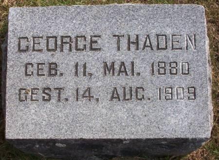 THADEN, GEORGE - Plymouth County, Iowa | GEORGE THADEN