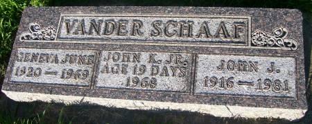 VANDER SCHAAF, GENEVA JUNE - Plymouth County, Iowa | GENEVA JUNE VANDER SCHAAF