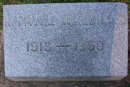 WALDMAN, MYRTLE A. - Plymouth County, Iowa | MYRTLE A. WALDMAN
