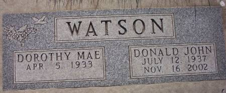 WATSON, DONALD JOHN - Plymouth County, Iowa | DONALD JOHN WATSON
