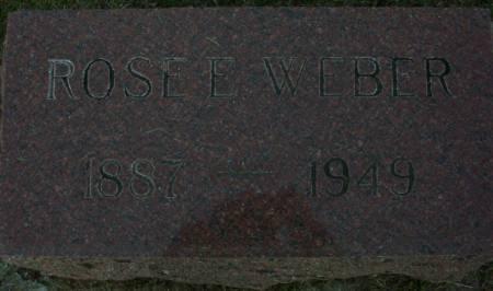 WEBER, ROSE ELIZABETH - Plymouth County, Iowa | ROSE ELIZABETH WEBER