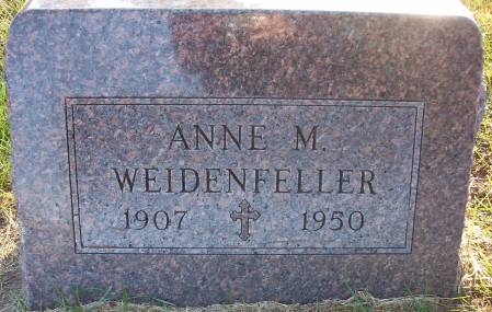 WEIDENFELLER, ANNE M. - Plymouth County, Iowa   ANNE M. WEIDENFELLER