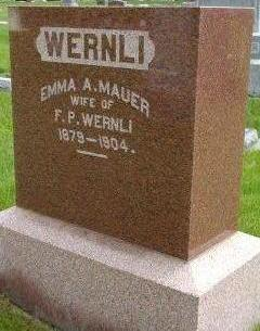 WERNLI, EMMA A - Plymouth County, Iowa | EMMA A WERNLI