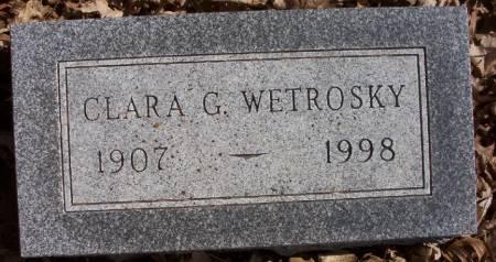 WETROSKY, CLARA G. - Plymouth County, Iowa | CLARA G. WETROSKY