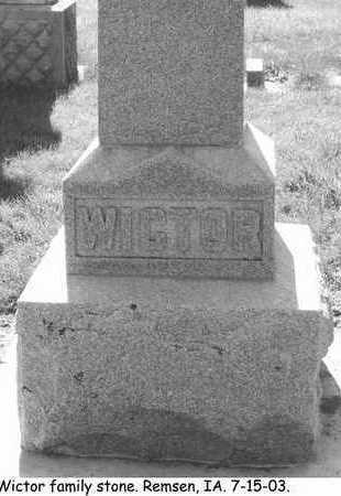 WICTOR, FAMILY STONE - Plymouth County, Iowa | FAMILY STONE WICTOR
