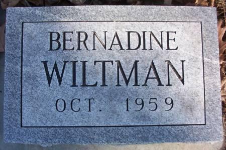 WILTMAN, BERNADINE - Plymouth County, Iowa | BERNADINE WILTMAN
