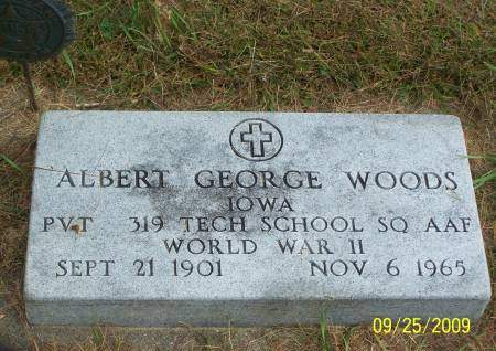 WOODS, ALBERT GEORGE - Plymouth County, Iowa   ALBERT GEORGE WOODS