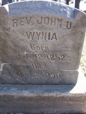 WYNIA, JOHN U. (REV.) - Plymouth County, Iowa | JOHN U. (REV.) WYNIA