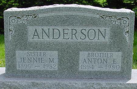 ANDERSON, JENNIE - Pocahontas County, Iowa | JENNIE ANDERSON