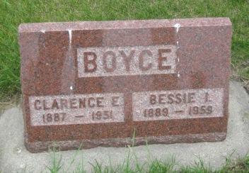 BOYCE, BESSIE - Pocahontas County, Iowa | BESSIE BOYCE