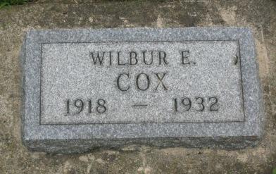 COX, WILBUR E. - Pocahontas County, Iowa | WILBUR E. COX