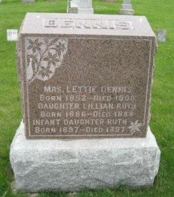 DENNIS, MRS. LETTIE - Pocahontas County, Iowa   MRS. LETTIE DENNIS