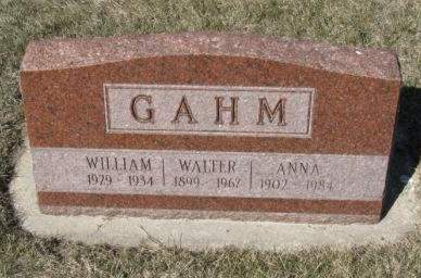 GAHM, ANNA - Pocahontas County, Iowa   ANNA GAHM