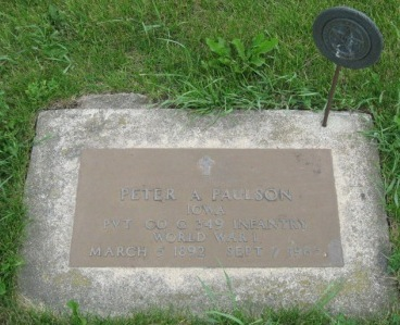 PAULSON, PETER A - Pocahontas County, Iowa   PETER A PAULSON