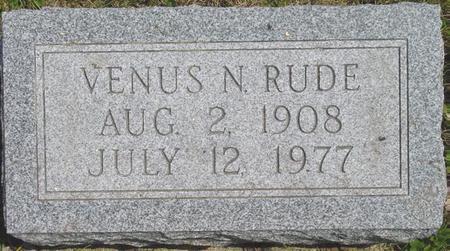 RUDE, VENUS - Pocahontas County, Iowa   VENUS RUDE