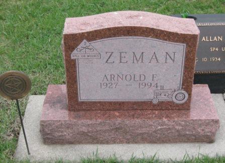ZEMAN, ARNOLD F. - Pocahontas County, Iowa | ARNOLD F. ZEMAN