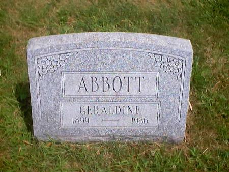 ABBOTT, GERALDINE - Polk County, Iowa | GERALDINE ABBOTT