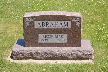 ABRAHAM, BESSE MAE - Polk County, Iowa   BESSE MAE ABRAHAM