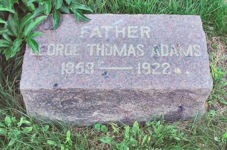 ADAMS, GEORGE THOMAS - Polk County, Iowa | GEORGE THOMAS ADAMS