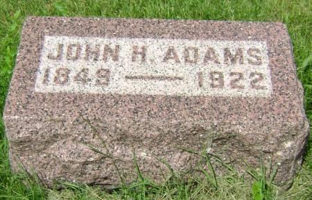 ADAMS, JOHN H. - Polk County, Iowa | JOHN H. ADAMS