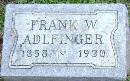 ADLFINGER, FRANK W - Polk County, Iowa | FRANK W ADLFINGER